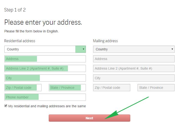 Регистрация автора на Shutterstock