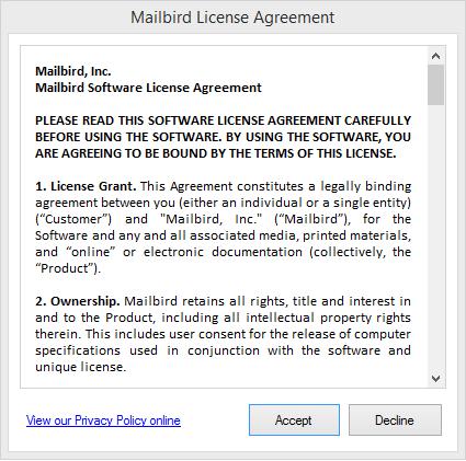 Mailbird – почтовый клиент для Windows